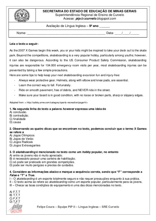Felipe Coura – Equipe PIP II – Língua Inglesa – SRE Curvelo SECRETARIA DO ESTADO DE EDUCAÇÃO DE MINAS GERAIS Superintendên...