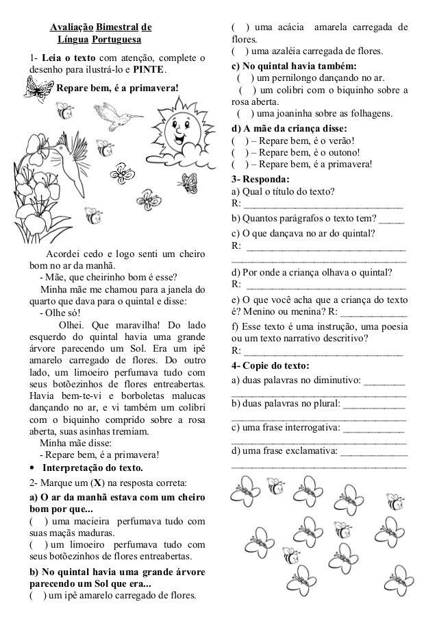 Top Avaliacao bimestral-de-lingua-portuguesa 5 LF47