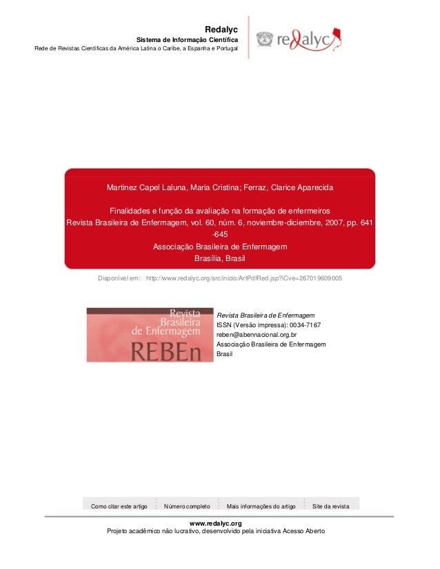 Redalyc Sistema de Informação Científica Rede de Revistas Científicas da América Latina o Caribe, a Espanha e Portugal  Ma...