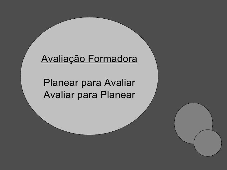Avaliação Formadora Planear para Avaliar Avaliar para Planear