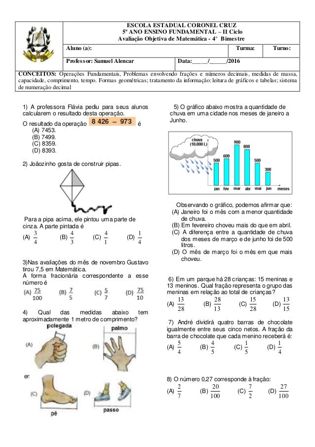 1) A professora Flávia pediu para seus alunos calcularem o resultado desta operação. O resultado da operação é (A) 7453. (...
