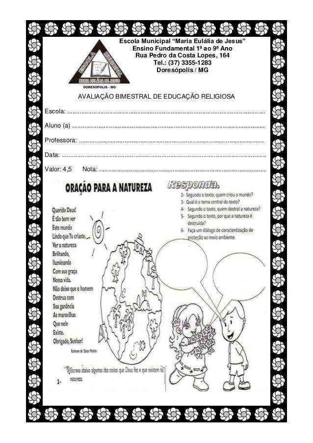 """Escola Municipal """"Maria Eulália de Jesus""""                                            Ensino Fundamental 1º ao 9º Ano      ..."""