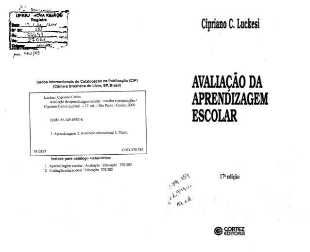 Cipriano C.  Luclresi     U Dados Internacionais de catalogação na Publicação (CIP) (Câmara Brasileira do Livro,  SP,  Bra...