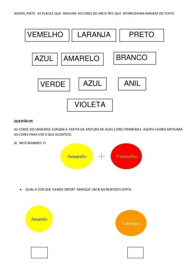AVALIAÇÃO DE ARTES - 1º ANO DO ENSINO FUNDAMENTAL 1 - 1º BIMESTRE  Slide 3