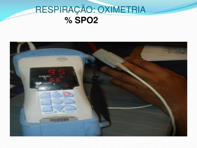 RESPIRAÇÃO: OXIMETRIA % SPO2