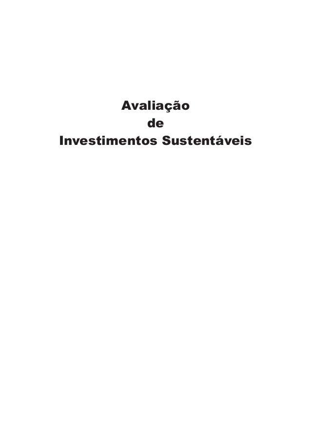 Avaliação de Investimentos Sustentáveis