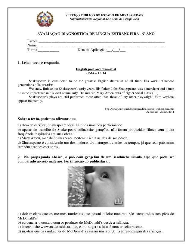SERVIÇO PÚBLICO DO ESTADO DE MINAS GERAIS                                   Superintendência Regional de Ensino de Campo B...