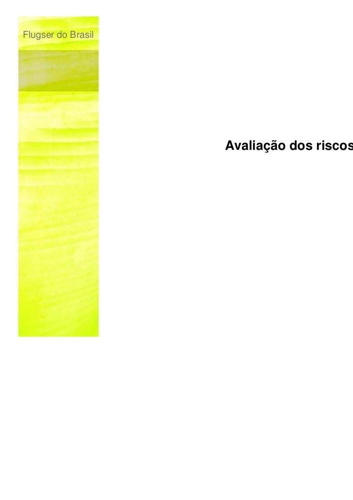 Flugser do Brasil                    Avaliação dos riscos                                           © Flugser do Brasil, 2...