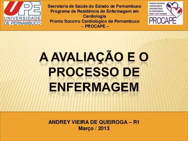 Secretaria de Saúde do Estado de PernambucoPrograma de Residência de Enfermagem emCardiologiaPronto Socorro Cardiológico d...