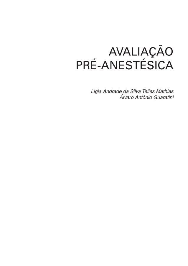 Avaliação pré anestésica