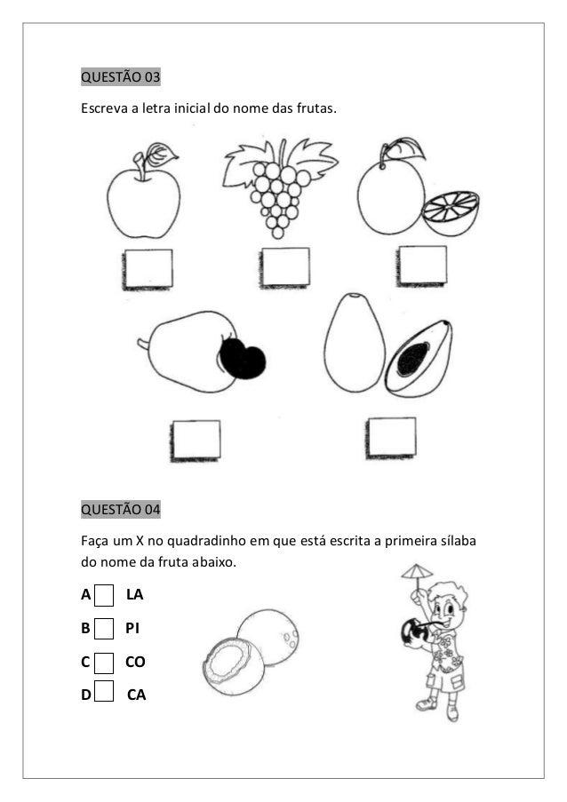 Avaliação semestral de português 1º ano (1) Slide 2