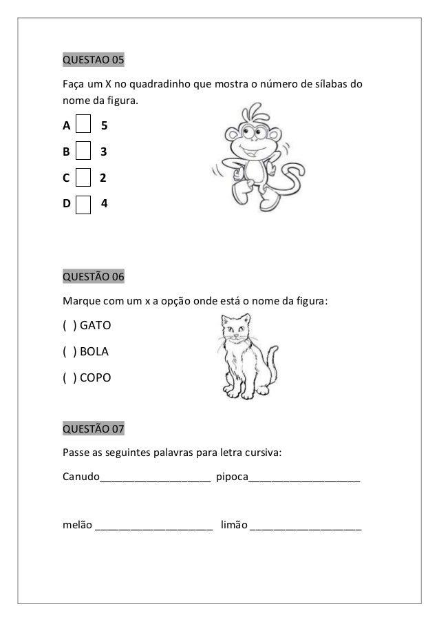 Avaliação semestral de português 1º ano (1) Slide 3