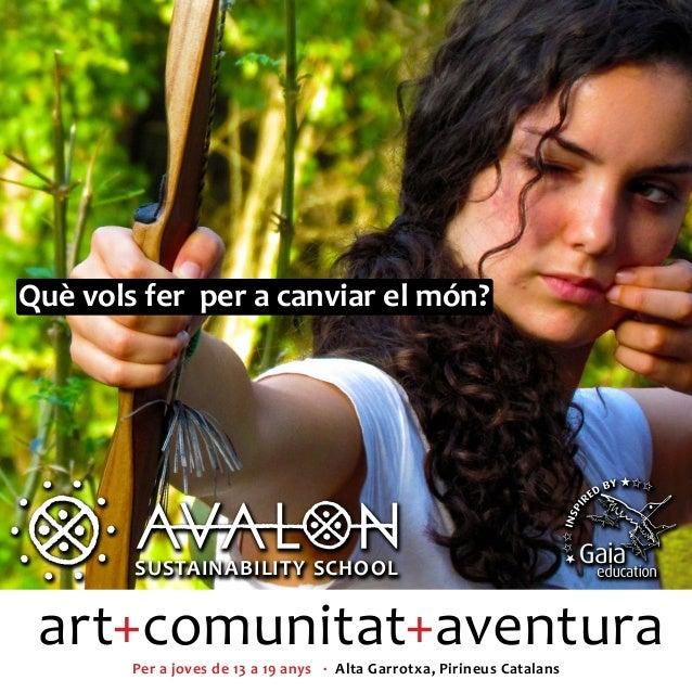 Què vols fer per a canviar el món?        SUSTAINABILITY SCHOOL        SUSTAINABILITY SCHOOL art+comunitat+aventura       ...