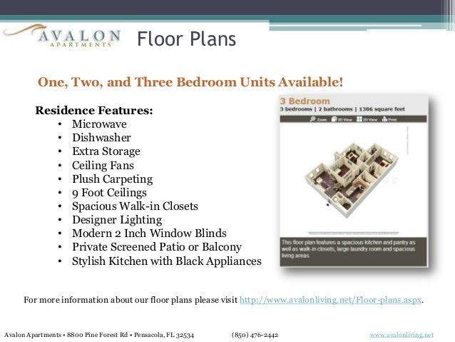 8800 Pine Forest Rd   Pensacola  FL 32534  2. Avalon Apartments  Pensacola  FL