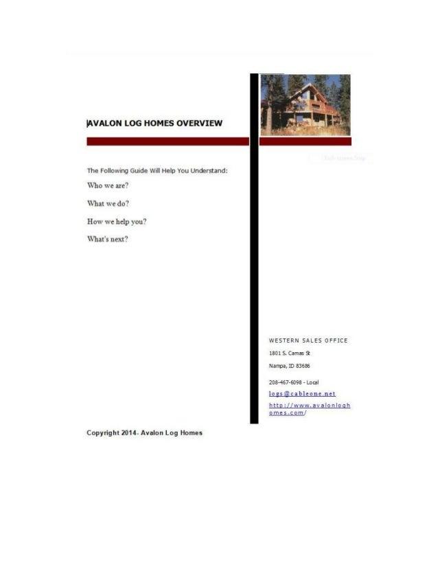 Avalon Log Homes Overview 2014