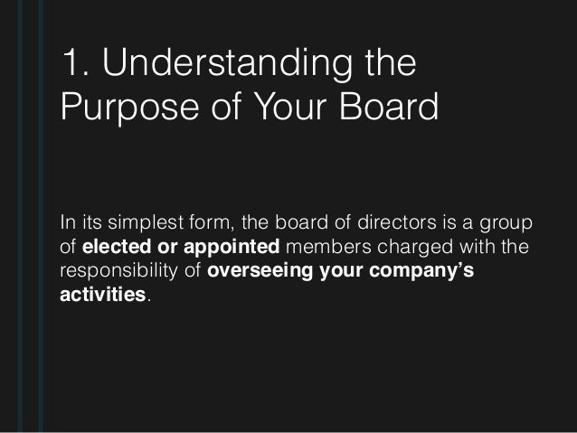 how to build a board of directors