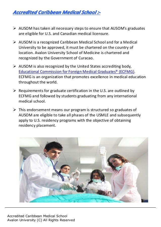 Avalon University School Of Medicine Accreditation