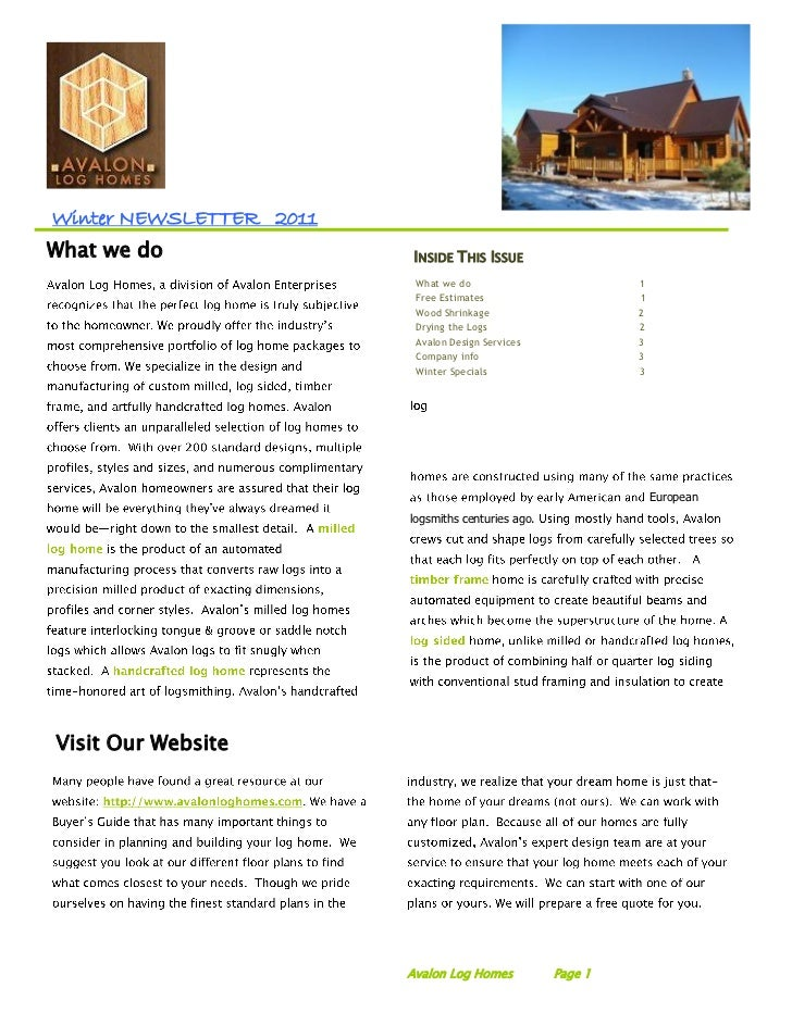 Winter NEWSLETTER 2011What we do                INSIDE THIS ISSUE                          What we do                     ...
