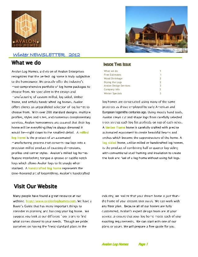 Winter NEWSLETTER 2012What we do                INSIDE THIS ISSUE                          What we do                     ...