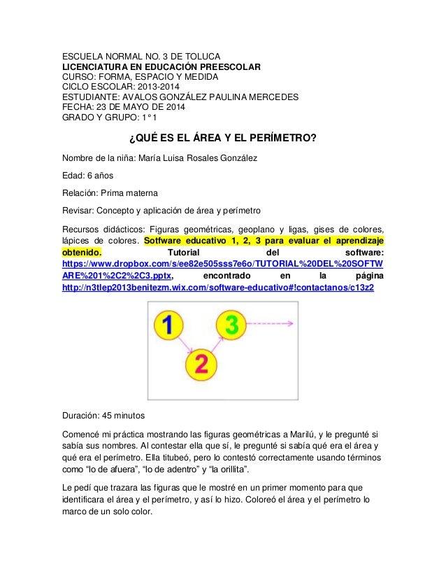 ESCUELA NORMAL NO. 3 DE TOLUCA LICENCIATURA EN EDUCACIÓN PREESCOLAR CURSO: FORMA, ESPACIO Y MEDIDA CICLO ESCOLAR: 2013-201...