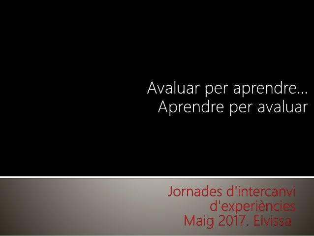 Thumbnail for Jornades Compartim experiències 2017