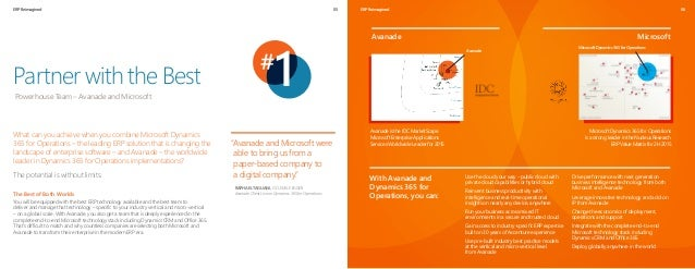 ERP Reimagined 05 Partner with the Best Powerhouse Team – Avanade and Microsoft 06ERP Reimagined With Avanade and Dynamics...