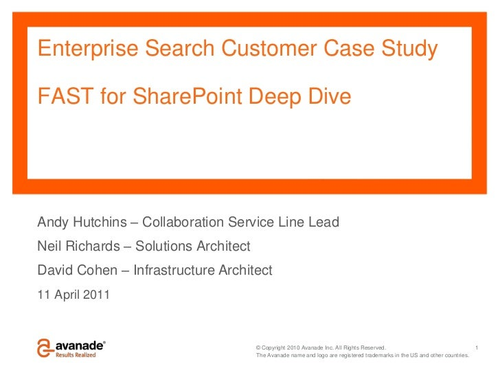 FAST for SharePoint Deep Dive
