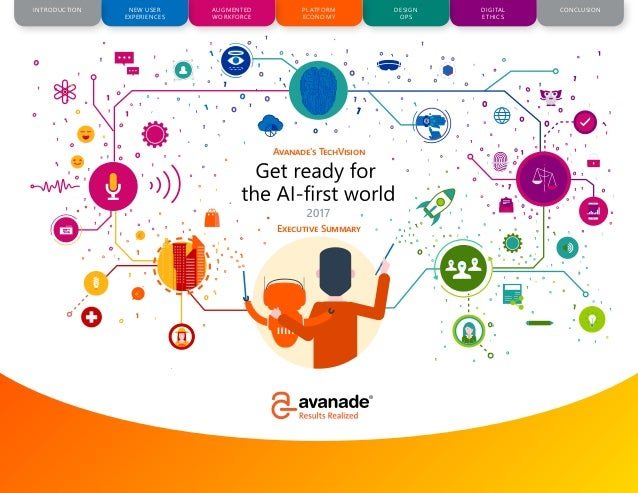 CONCLUSIONAUGMENTED WORKFORCE PLATFORM ECONOMY DESIGN OPS DIGITAL ETHICS NEW USER EXPERIENCES INTRODUCTION 1 www.avanade.c...
