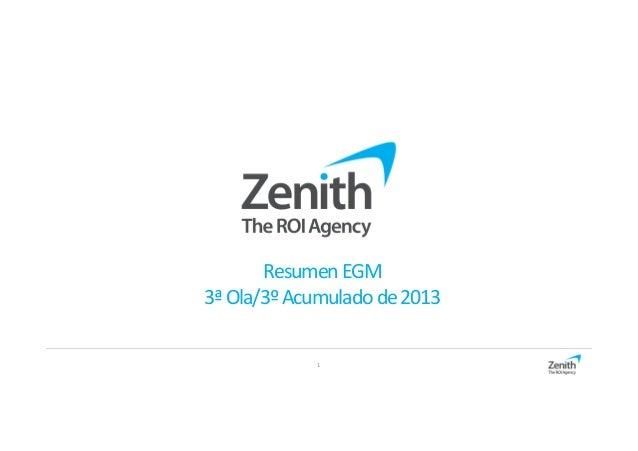 Resumen EGM 3ª Ola/3º Acumulado de 2013 1