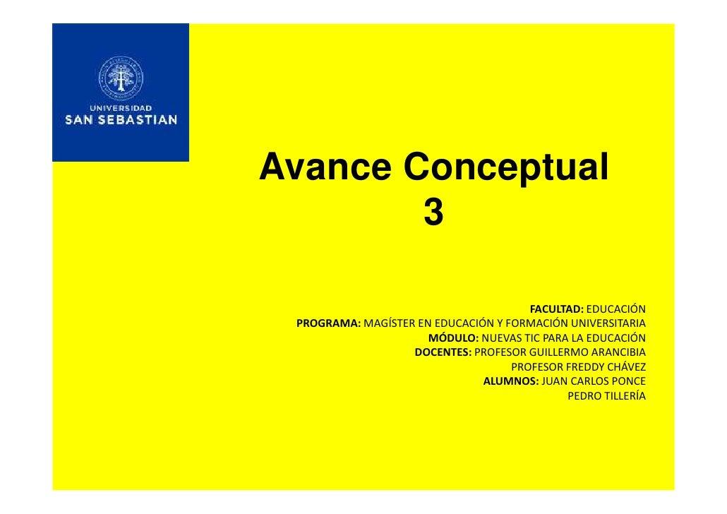 Avance Conceptual         3                                         & hd  h /ME  WZK'Z D   D '1^dZ E h /ME z KZD /ME hE/sZ...