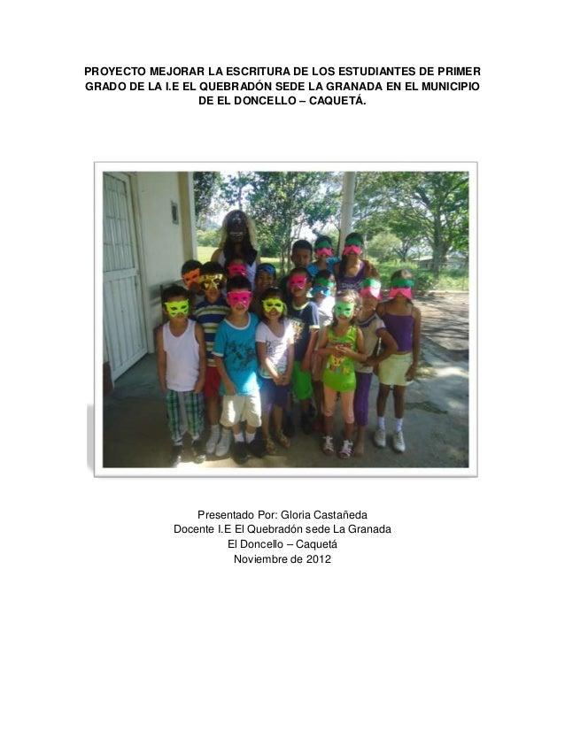 Proyecto de aula mejorar la escritura de los estudiantes - M a interiorismo cb granada ...