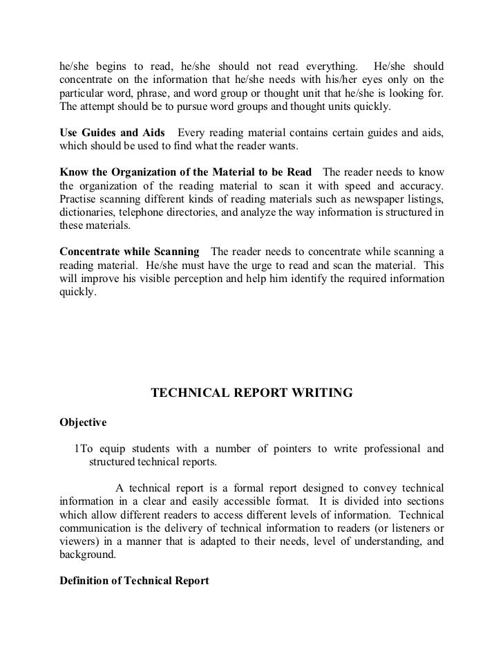 styles of technical writing