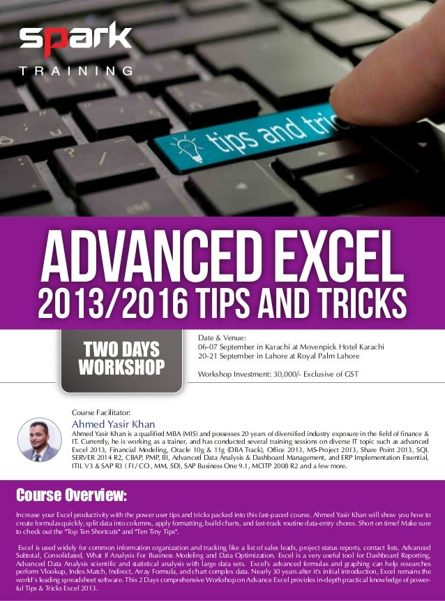 best excel 2013 tips and tricks