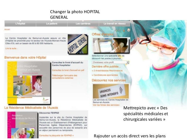 Changer la photo HOPITALGENERAL                                     Mettrepicto avec « Des                                ...