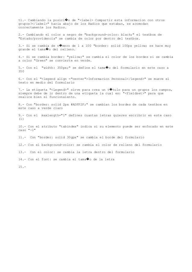 """t1.- Cambiando la posici n de """"<label> Compartir esta informacion con otros� grupos?</label>"""" hacia abajo de los Radios qu..."""