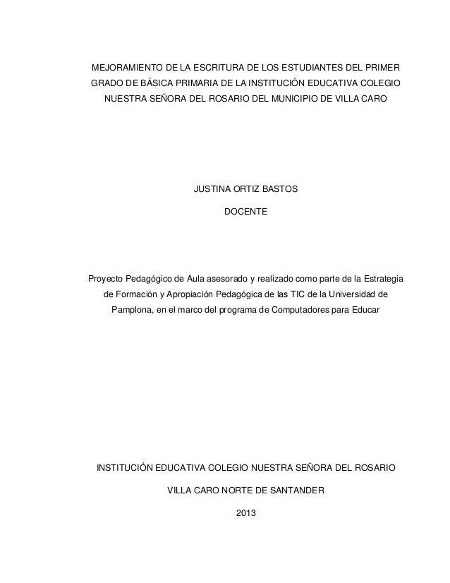leed letter template - mejoramiento de la escritura de los estudiantes del primer