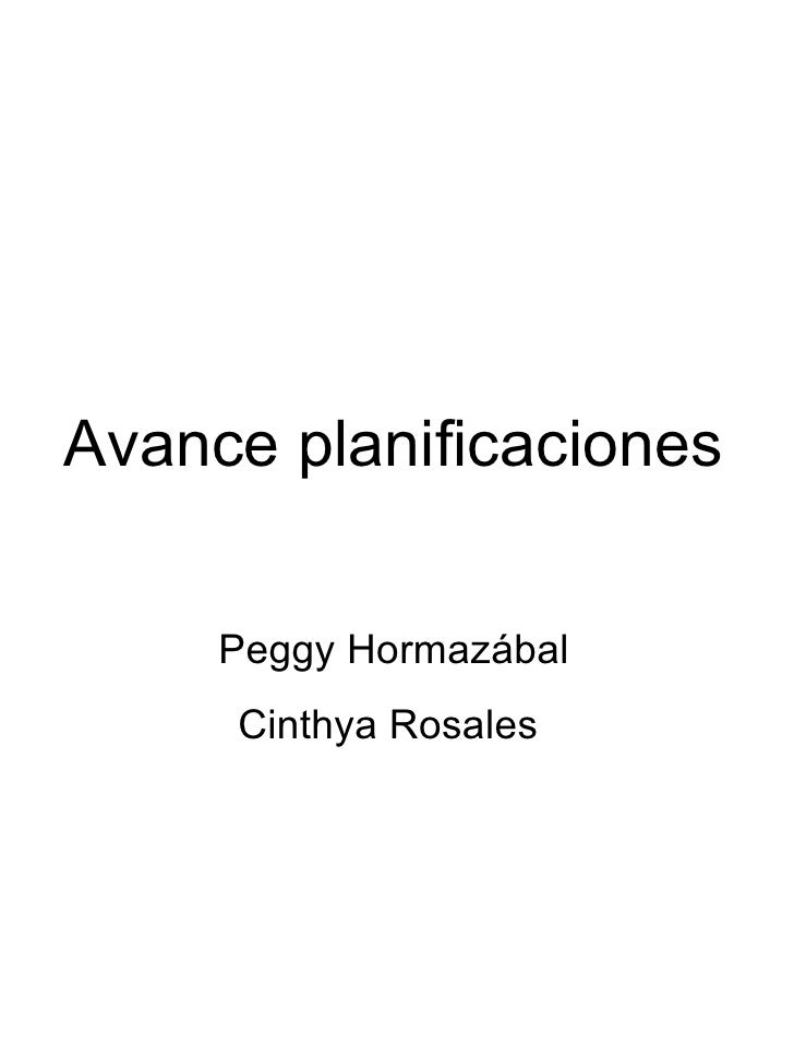 Avance planificaciones Peggy Hormazábal Cinthya Rosales