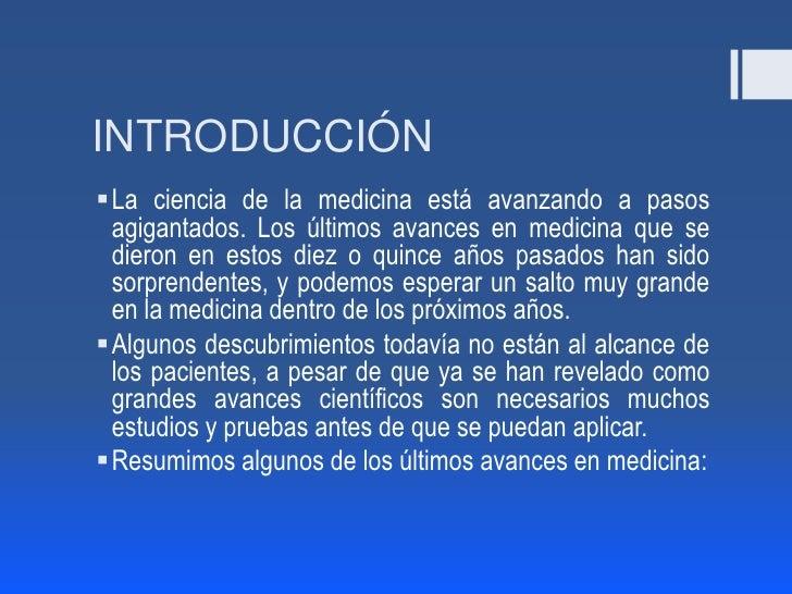 Avances tecnológicos en medicina