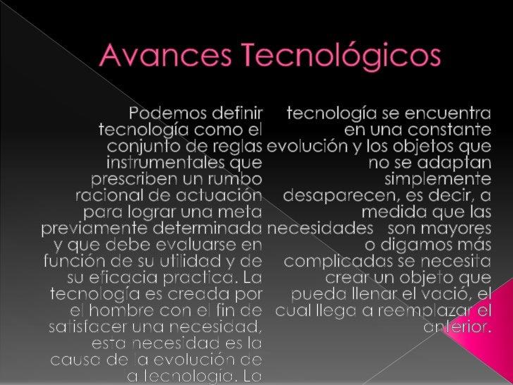 Avances tecnologico