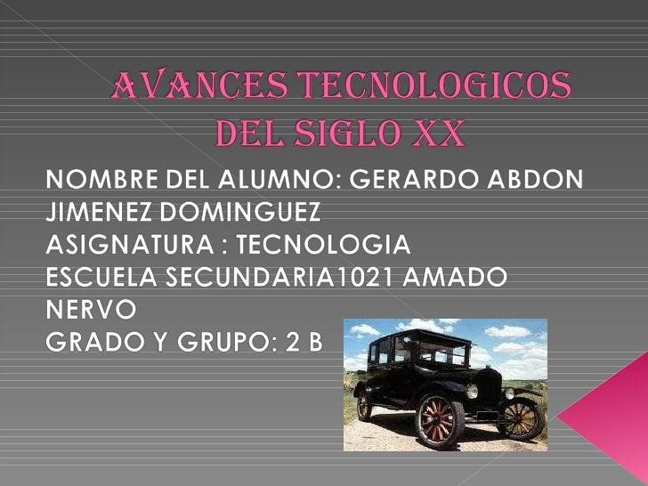 principales inventos tecnologicos del siglo 20