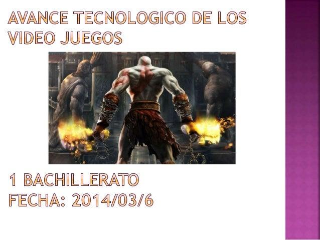  Un  videojuego o juego de vídeo es un juego electrónico en el que una o más personas interactúan, por medio de un contro...