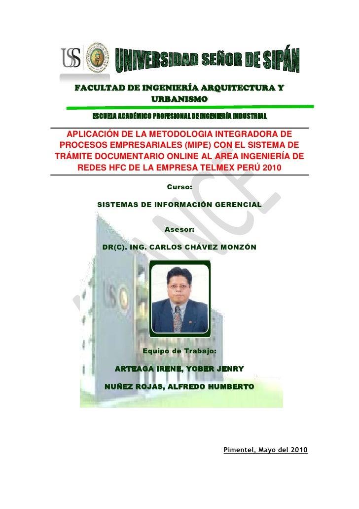 173990-33655<br />FACULTAD DE INGENIERÍA ARQUITECTURA Y URBANISMO<br />ESCUELA ACADÉMICO PROFESIONAL DE INGENIERÍA INDUSTR...