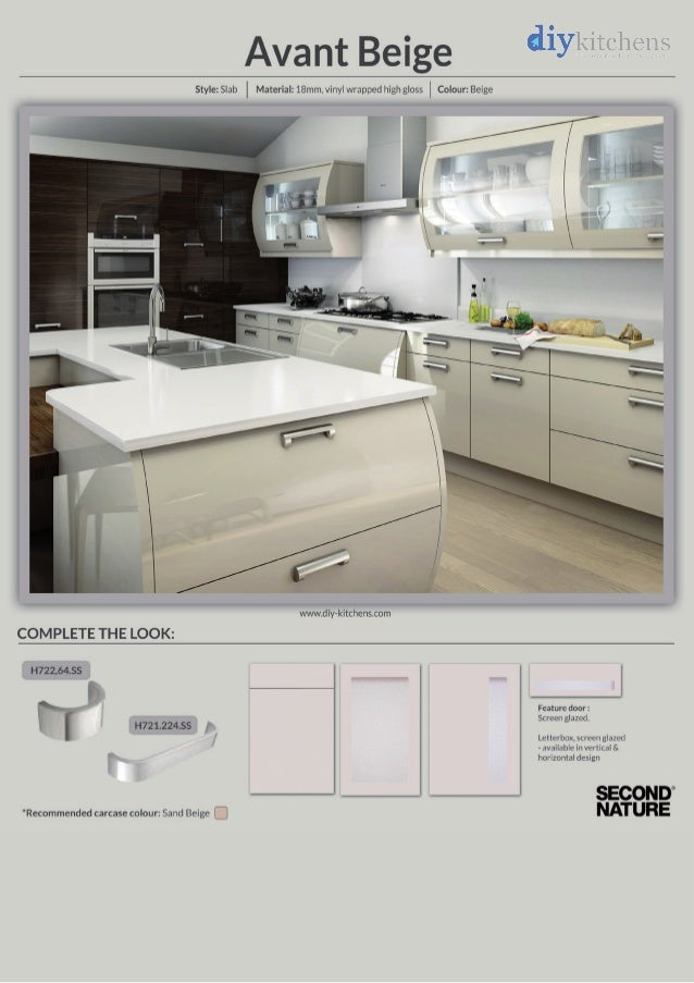 captivating beige gloss kitchen | Avant Beige High Gloss Kitchen Design Idea - DIY Kitchens