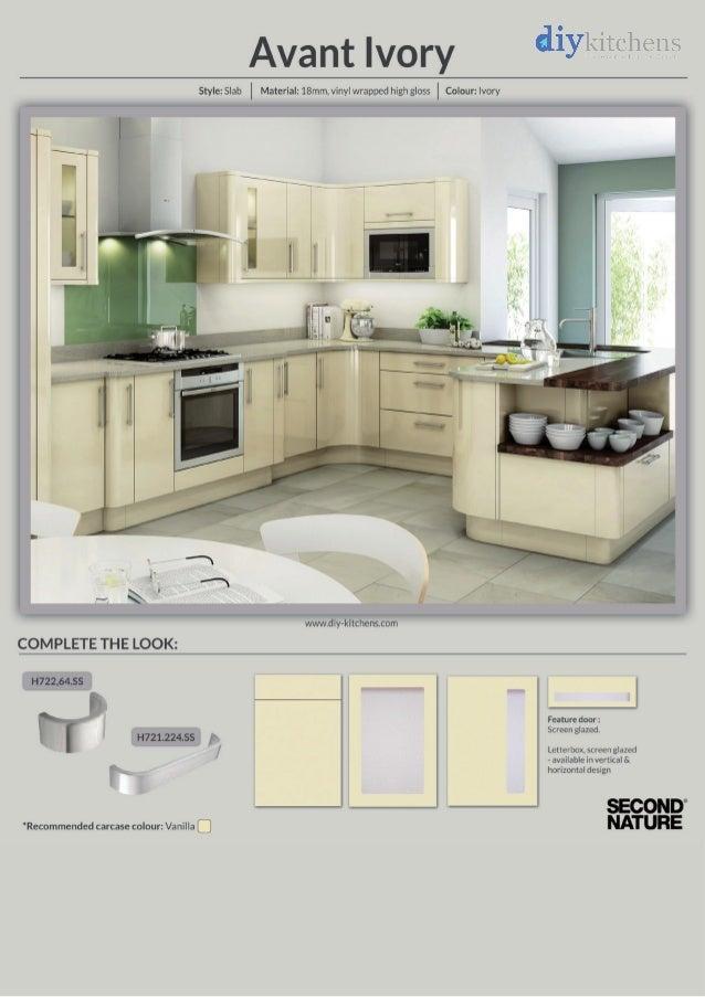 Avant Ivory High Gloss Kitchen Design Idea - DIY Kitchens