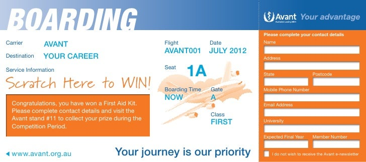 Boarding Pass Competition