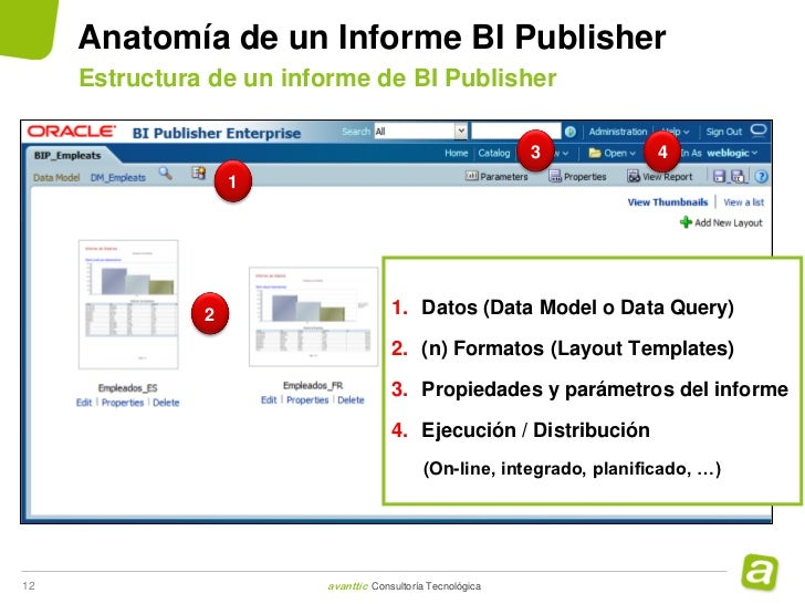 bi publisher data template example - avanttic webinar bi publisher 20120927