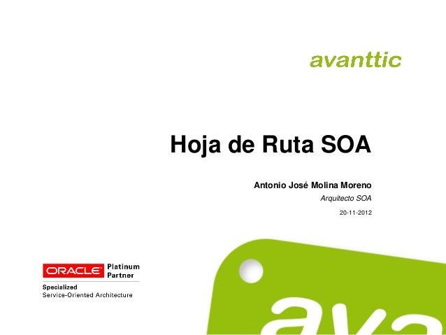 Hoja de Ruta SOA      Antonio José Molina Moreno                    Arquitecto SOA                         20-11-2012