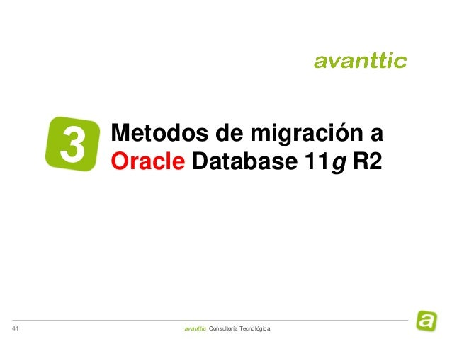 avanttic Webinar Migración Oracle Database 11g