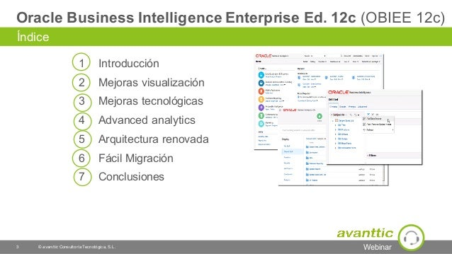 avanttic - webinar: Analítica transformacional con Oracle Business Intelligence (04-02-2016) Slide 3
