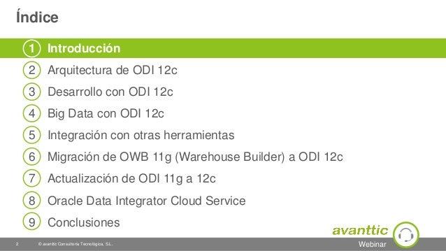 Webinar Oracle Data Integrator 12c (ODI) Slide 2